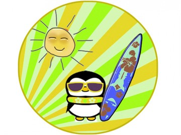 Летняя подготовка Пингвинят - ролики и море.